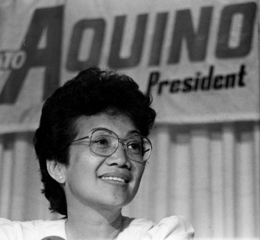 Philippine President Corazon Aquino in 1986 (AP Photo)