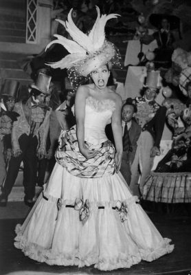 Our file picture shows famous american Jazz singer and dancer Joséphine Baker during a show-revue at Paris, Feb. 21, 1949. (AP PHOTO)