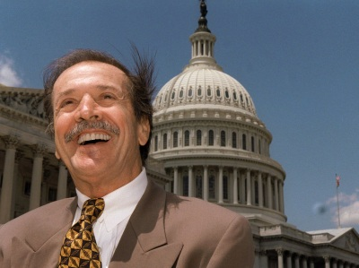 In this is May 7, 1997 file photo of Rep. Sonny Bono is seen on Capitol Hill in Washington. (AP Photo/Joe Marquette, File)
