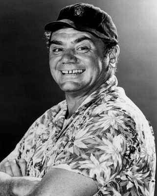 Ernest Borgnine, publicity photo for McHale's Navy (Wikimedia Commons/Milburn McCarty Public Relations)