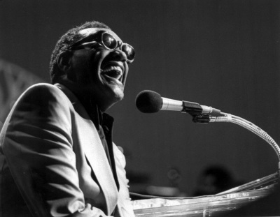 Ray Charles is shown in this March 16, 1979 photo. Charles, the Grammy-winning crooner who blended gospel and blues and heartfelt ballads like ``Georgia on My Mind,'' died Thursday, June 10, 2004 in Beverly Hills, Calif., a spokesman said. He was 73. (AP Photo)