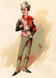 Sam Weller from The Pickwick Papers,  illustration by Joseph Clayton Clarke aka Kyd (Wikimedia Commons)
