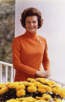 Betty Ford's official White House photo, 1974 (Wikimedia Commons/Library of Congress)
