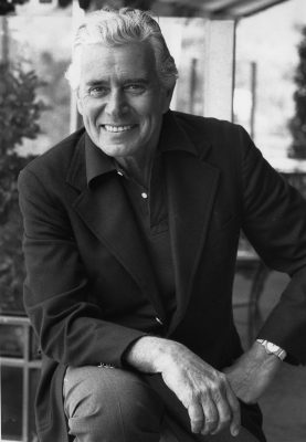 In a July 7, 1983 photo, actor John Forsythe, poses during an interview in Los Angeles, Ca. Forsythe, the actor who made his fortune as TV's affable