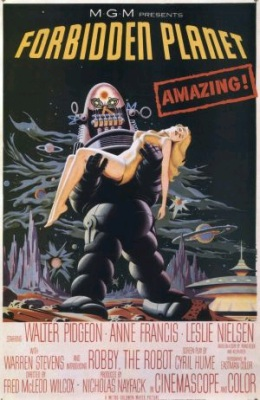 Film poster for Forbidden Planet (Wikimedia Commons/MGM)