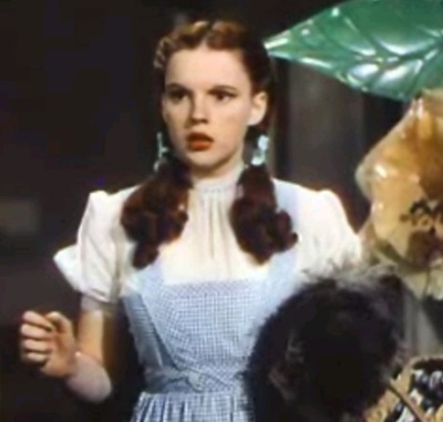 "Judy Garland as Dorothy in ""The Wizard of Oz"" (Wikimedia Commons)"