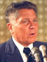 Teamsters president Jimmy Hoffa is shown June 3, 1974 in Washington. The FBI on Wednesday May 17, 2006 searched property northwest of Detroit for clues to the disappearance of Hoffa, officials said. The Teamsters leader was last seen in July 1975 at a restaurant in Oakland County's Bloomfield Township. (AP Photo)
