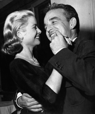 Prince Rainier III of Monaco and Grace Kelly dance at a party at the Formentor Yacht Club, near Puerto Pollensa on the island of Mallorca off the coast of Spain, on April 23, 1956, during their honeymoon. (AP Photo)
