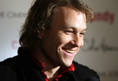 In this Monday, Nov. 6, 2006 file picture, actor Heath Ledger arrives for the premiere of his new film