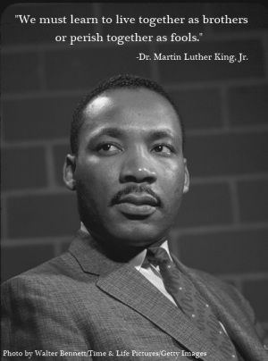 Portrait of Rev. Martin Luther King, Jr. (Photo by Walter Bennett/Time & Life Pictures/Getty Images)