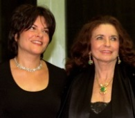 June Carter Cash with her step-daughter Roseanne Cash in Washington, D.C., Dec. 7, 1996. June Carter Cash was a member of country music dynasty The Carter Family, singing with her sisters and mother Maybelle Carter, and bringing husband Johnny Cash into the family when they married. She died on May 15, 2003. (AP Photo / Tyler Mallory)