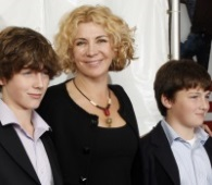 Natasha Richardson and her sons arrive at the Broadway opening of Billy Elliot The Musical, in New York, Thursday, Nov. 13, 2008. Richardson died just months later on Mar. 18, 2009, from injuries sustained in a skiing accident. (AP Photo / Stuart Ramson)