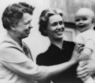 Eleanor Roosevelt, her daughter Anna, and grandson John Boettiger, Jr. The former first lady died on Nov. 7, 1962, leaving behind a legacy of human rights achievements. (Wikimedia Commons / National Archives and Records Administration)