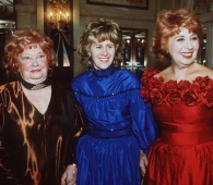 Opera singer Beverly Sills, right, is seen with her daughter Muffy, and her mother Shirley Silverman, left, in this Dec. 19, 1988 photo at New York's Plaza Hotel. Sills died of lung cancer on Jul. 2, 2007. (AP Photo / Mario Suriani)