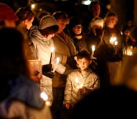 Mourners gather for a vigil (AP Photo/Jason DeCrow)