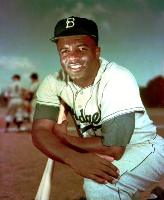 Brooklyn Dodger infielder Jackie Robinson poses in May 1952. (AP Photo)