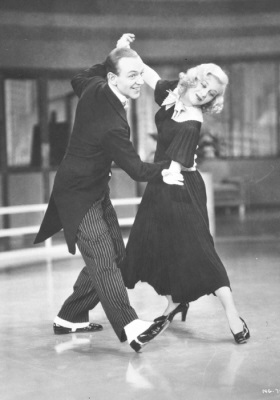 "Fred Astaire and Ginger Rogers in 1936 RKO film ""Swing Time"" (AP Photo)"