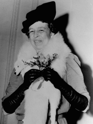 In this Oct. 11, 1939 file photo, then first lady Eleanor Roosevelt celebrates her 55th birthday in Washington. (AP Photo/File)