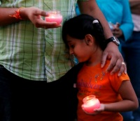 Vigil for victims of the Sikh Temple shooting (AP Photo/Jeffrey Phelps)