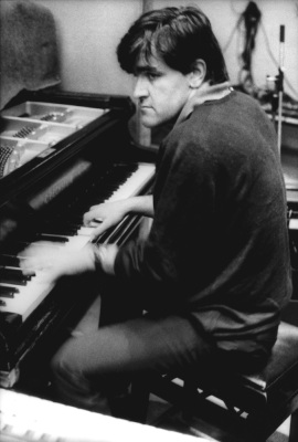 Photo of ROLLING STONES and Ian STEWART; playing piano in the recording studio (Photo by Estate Of Keith Morris/Redferns)