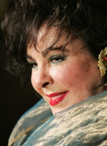 In this Nov. 10, 2005 file photo, Dame Elizabeth Taylor poses at the British Film and Television Academy/Los Angeles Cunard Britannia Awards in Beverly Hills, Calif.  (AP Photo/Mark J. Terrill, File)