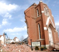 St. Joseph's Catholic Church in Ridgway, IL (Associated Press Photo)