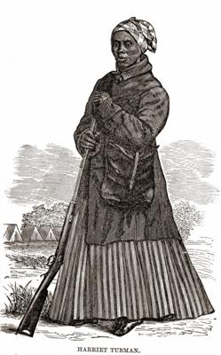 Harriet Tubman during the Civil War (Wikimedia Commons/woodcut artist unknown)
