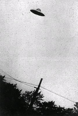Grainy B&W image of supposed UFO, Passaic, New Jersey (Wikimedia Commons/CIA educational materials)