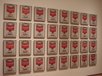 Museum of Modern Art, Andy Warhol, Campbell Soup Cans (Flickr Creative Commons/Allie_Caulfield)
