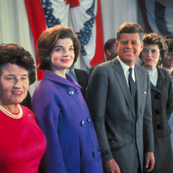Jackie Kennedy with JFK, Rose Kennedy, Eunice Kennedy Shriver, and Patricia Kennedy Lawford