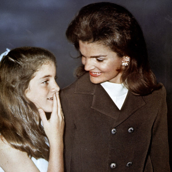 Jackie Kennedy and Caroline Kennedy at the ballet in 1970