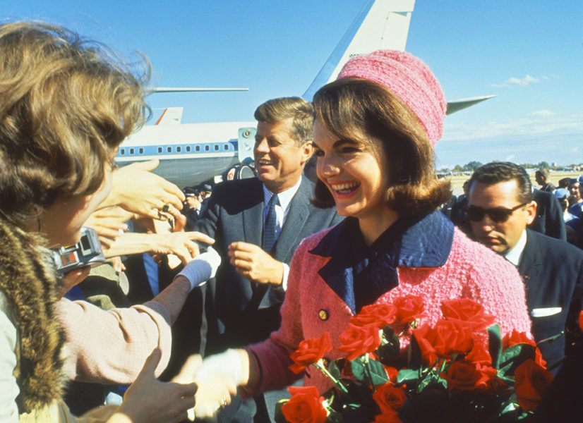 Jackie Kennedy and JFK arrive in Dallas on November 22, 1963