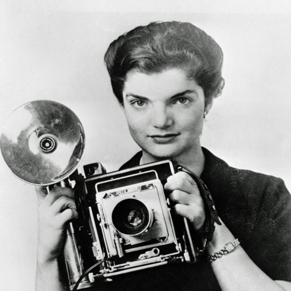 Jacqueline Bouvier with her camera