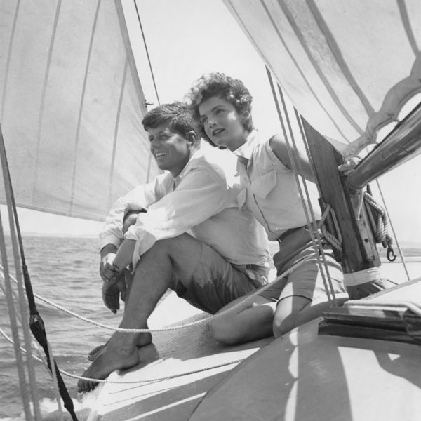 Engaged couple John F. Kennedy and Jacqueline Bouvier in June 1953
